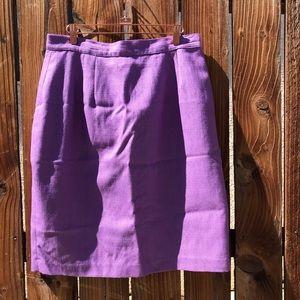 Vintage Amanda Smith Purple Pencil Skirt Size 18
